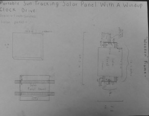 Mechanical Drawing of Wooden Frame